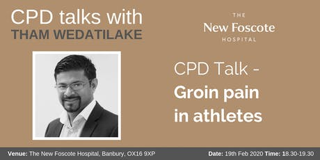 CPD Talk - Groin pain in athletes tickets
