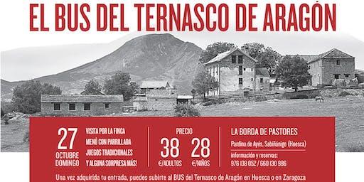 El bus del Ternasco de Aragón en La Borda de Pastores