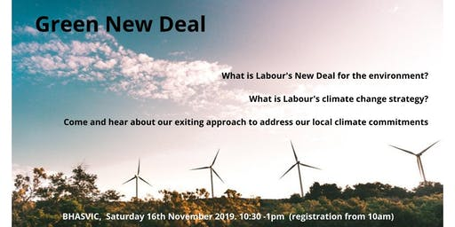 Hove and Portslade CLP Green New Deal event