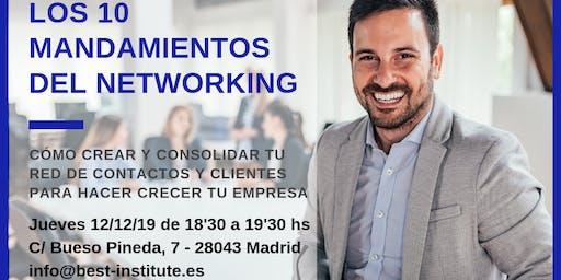 BEST Talk 10 MANDAMIENTOS DEL NETWORKING. CÓMO CREAR TU RED DE CONTACTOS