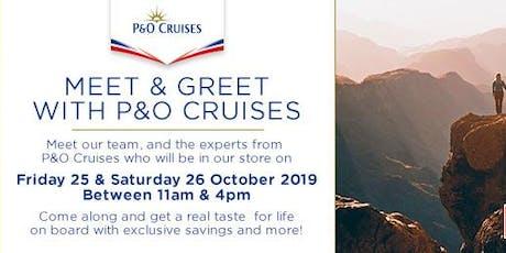 P&O Cruises Store Event Cruist1st tickets