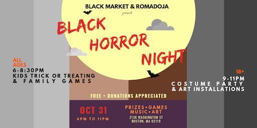 Black Market & ROMADOJA present  Black Horror Night!