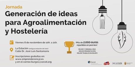 Jornada de Generación de Ideas en Agroalimentación y Hostelería entradas