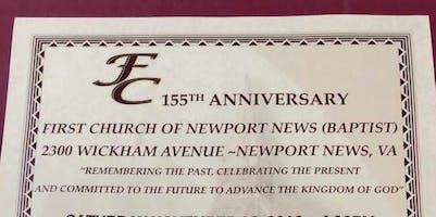 First Church Of N N (Baptist) 155th Anniversary