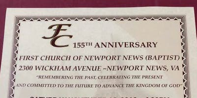 First Church Of N N (Baptist) 155th Anniversary