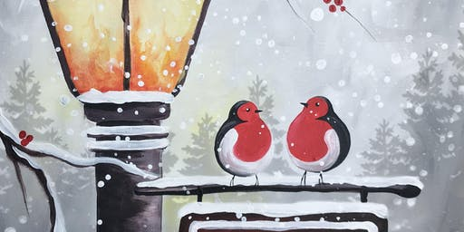 Festive Friends 'Paint, Prosecco & Pies' Brush Party - Watford