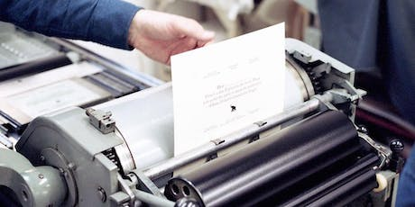 Introduction to Letterpress Printing tickets