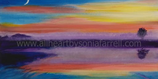 'Sunset Hues' Art Experience with  Sonia Farrell: Creative Hearts Art