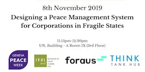 Designing a Peace Management System for Corporations in...