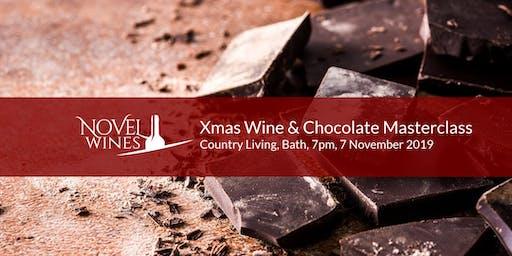 Christmas Wine & Chocolate Masterclass, Country Living Hotel, Bath