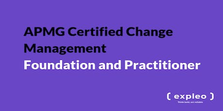 APMG Certified Change Management - Foundation and Practitioner  (5 Days) tickets