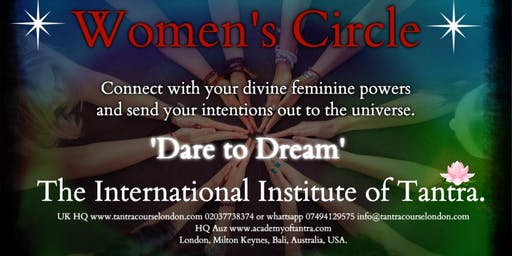 Womans Circle Tantric Breath and Movement setting Intensions.