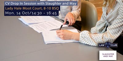 CV Drop-in Session with Slaughter and May