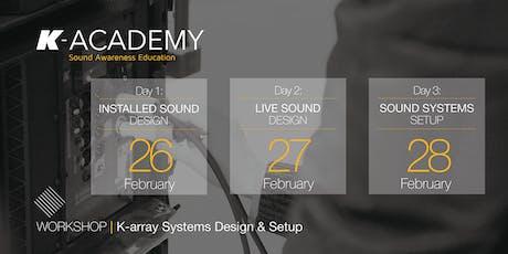 K-array Systems Design & Setup biglietti