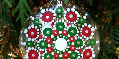 Mandala Holiday Ornament Painting Class Red/Green/Gold/White at Soule' tickets