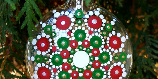 Mandala Holiday Ornament Painting Class Red/Green/Gold/White at Soule'