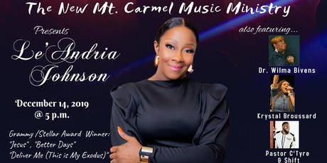 Le'Andria Johnson in Concert tickets