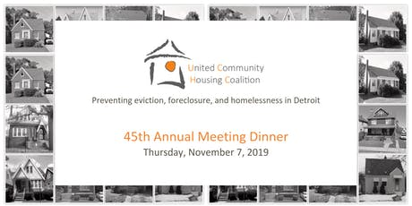 2019 Annual Meeting Dinner | United Community Housing Coalition tickets