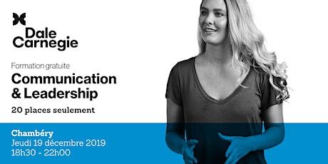 Communication & Leadership - Soirée de formation gratuite à Chambéry billets