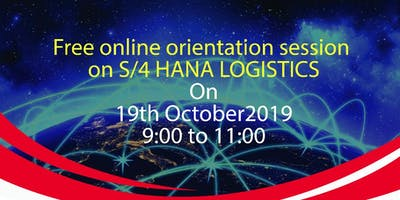 Free online orientation session on S/4 HANA Logistics