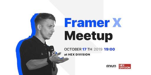 Framer X Meetup with Alexander Artsvuni