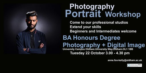 Portrait Photography Workshop  Beginners and Intermediates