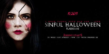 Johnny Utah's Sinful Halloween PlayHouse 10/26 tickets