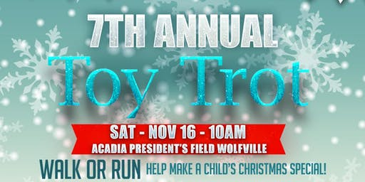 7th Annual  5k Toy Trot - Wolfville NS