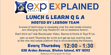 EXP Explained Lunch & Learn hosted by The Lebron Team