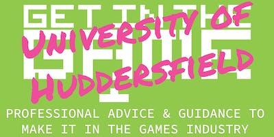 Get in the Game Careers Talks; University of Huddersfield