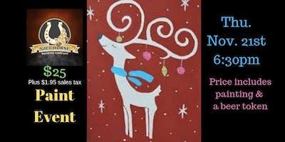 Reindeer Paint Event