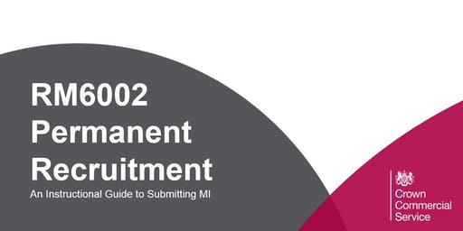 RM6002 Permanent Recruitment | MI Webinar
