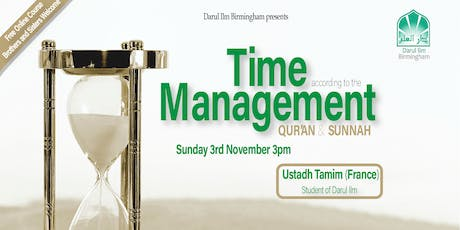 Time Management according to the Qur'an and Sunnah tickets