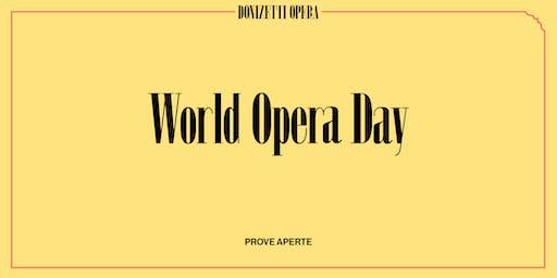 World Opera Day - Lucrezia Borgia prove aperte