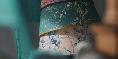 Marbling - The art of capturing floating colours on paper tickets