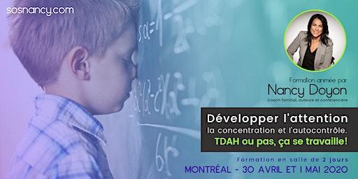 Formation : TDA/H ou pas, ça se travaille ! (MTL)