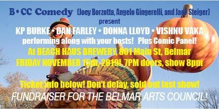 Comedy @ Beach Haus Brewery - Fri Nov 15th!