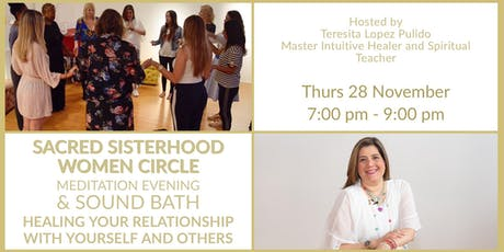 SACRED SISTERHOOD WOMEN CIRCLE MEDITATION EVENING & SOUND BATH tickets