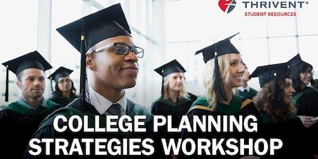 College Planning Strategies Workshop tickets