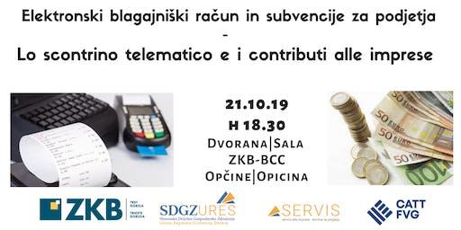 Elektronski račun in subvencije za podjetja | Lo scontrino telematico e i contributi alle imprese