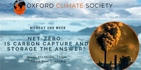Net-zero: Is Carbon Capture and Storage the answer? tickets