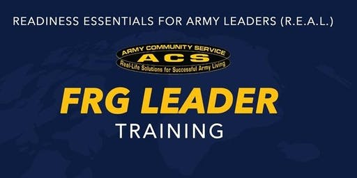 R.E.A.L. Soldier & Family Readiness Group Leader Training