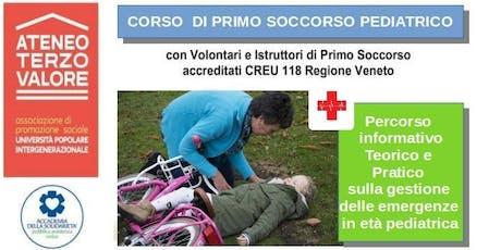 Corso Primo Soccorso Pediatrico VEDELAGO (TV) biglietti