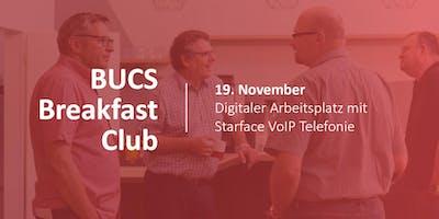 BUCS Breakfast Club | Digitaler Arbeitsplatz mit Starface VoIP Telefonie