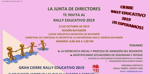 Rally Educativo ADCCLD 2019 Región Bayamón