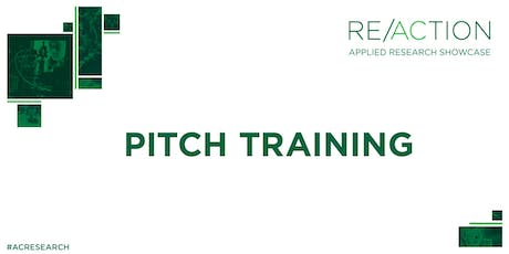 Algonquin College: RE/ACTION Showcase Pitch Training tickets