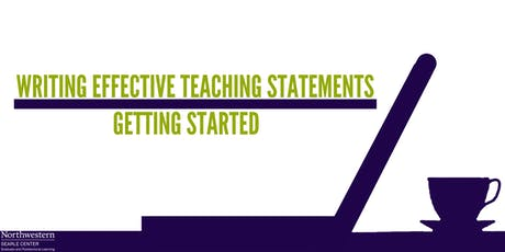 Writing Effective Teaching Statements: Getting Started tickets