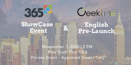 Private Event - 365x NYC 2019 ShowCase & Geektime  tickets
