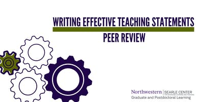 Writing an Effective Teaching Statement: Peer Review