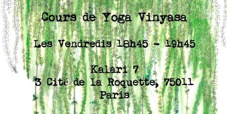 Cours de Yoga Vinyasa / 15 € billets